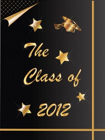 Graduation congratulations 2012 card Stock Vector - 12805979