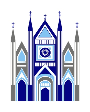 apostolic: Cathedral church as art graphic illustration vector