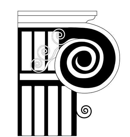Column Ionische, Dorische, historische Vector Illustratie