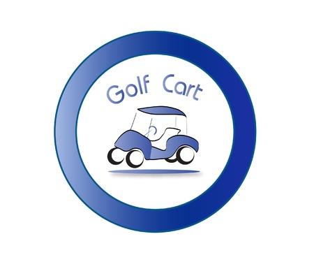 Golf cart icon Vector