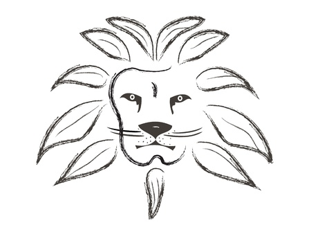 Lion face painted with strokes Stock Vector - 12982377