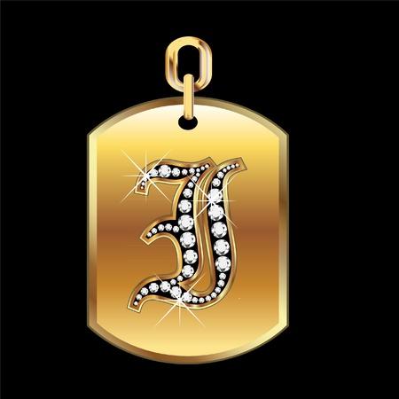 joyas de oro: Yo medalla en oro y diamantes