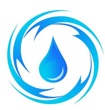 gota agua: Gota de agua el logotipo Vectores