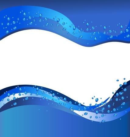 Tourbillon d'eau avec des bulles abstrait arrière-plan et l'espace vide pour le nom de votre entreprise