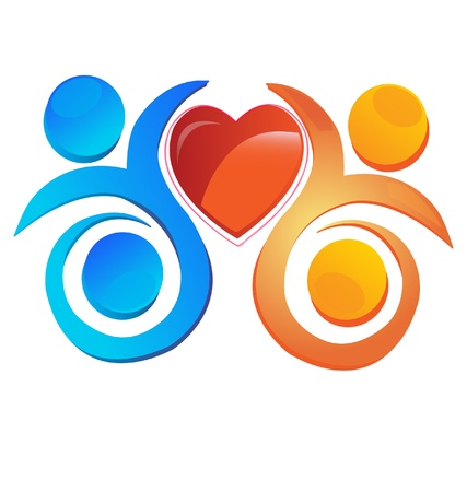 hopes: Team with a heart  logo
