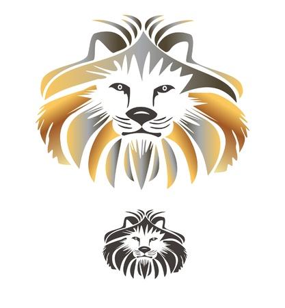 lion dessin: Logo roi lion vecteur Illustration