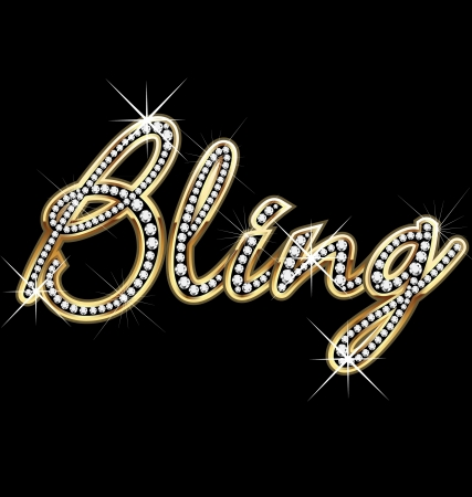 Bling bling word vector Stock Vector - 13159561