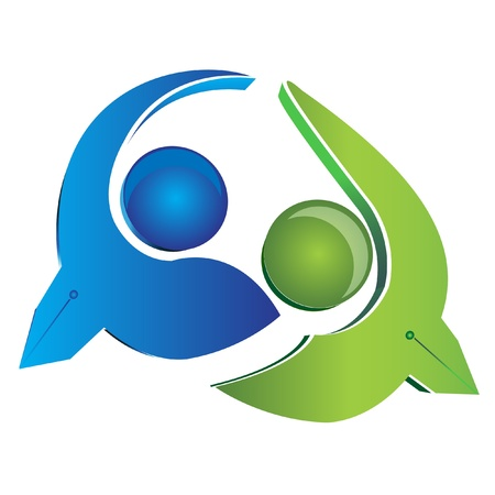 Team Business Männer Logo Vector Standard-Bild - 13260906