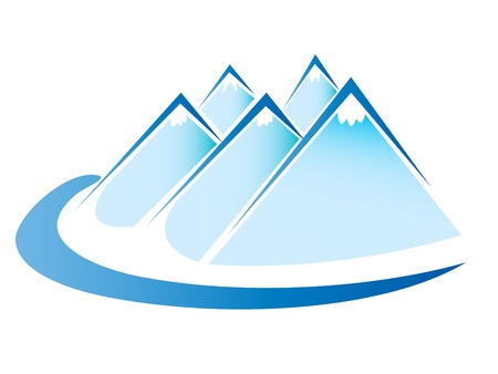 river rock: Blue ice mountains logo