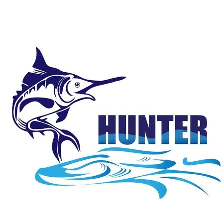 Hunter fish logo  Çizim