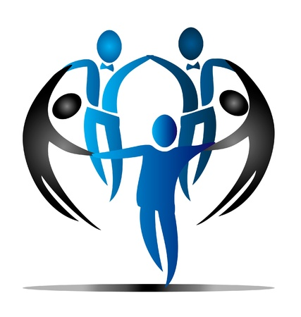 チームのビジネス社会のロゴのベクトル  イラスト・ベクター素材