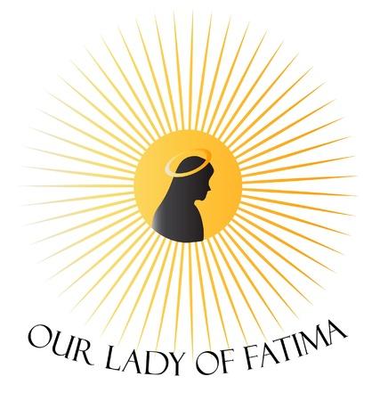 聖母ファティマ聖母マリアの  イラスト・ベクター素材