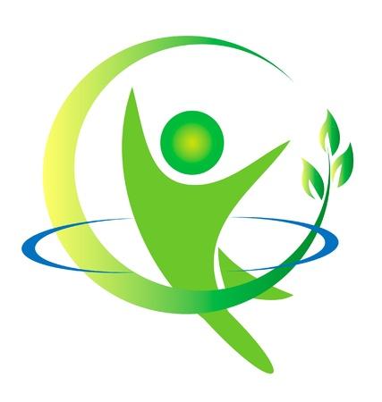 건강 자연 로고