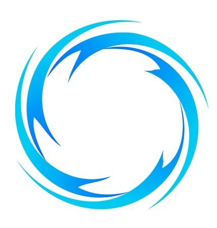water logo: water waves logo