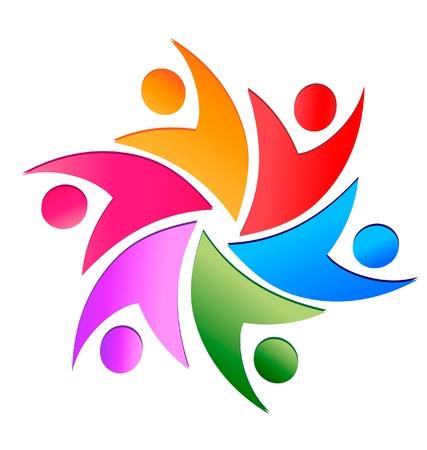 logo: El trabajo en equipo de negocios la gente vector logo
