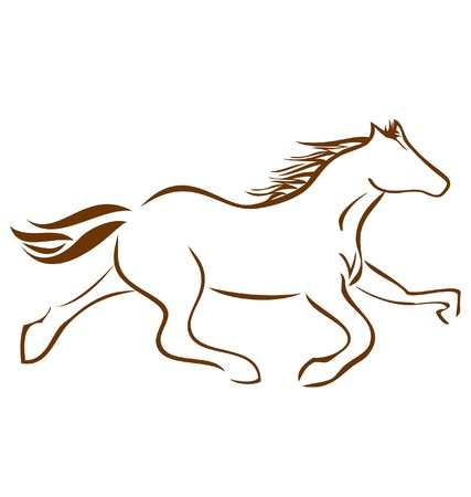 Racing Horse logo vector stock Vector
