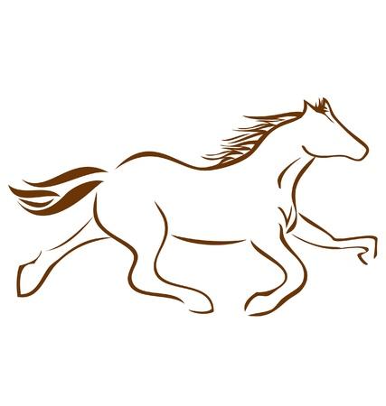 Racing Horse logo vector stock