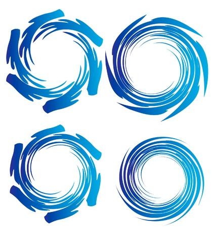 Toque grunge Swirly, útil para el diseño de su Foto de archivo - 13831203