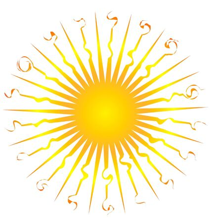 Sun icon swirly Vector