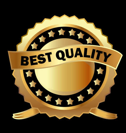 best quality: Gold label best quality  Illustration