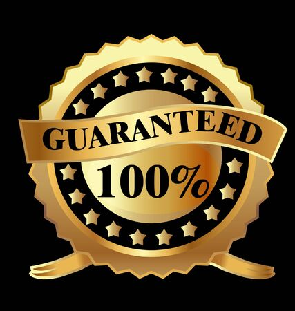 Gold label 100  guaranteed  Vector