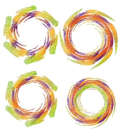 Swirly grunge vector logos Vector
