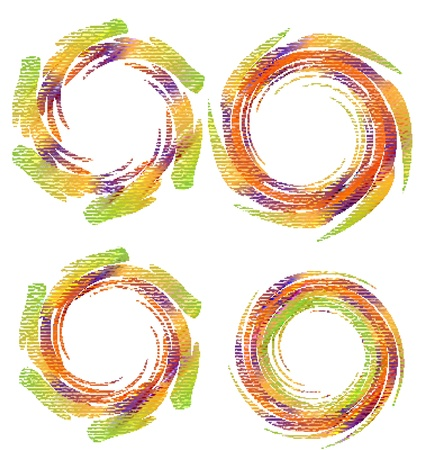 Swirly grunge vector logos