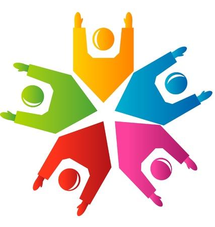 teamwork hands: Teamwork hands up logo