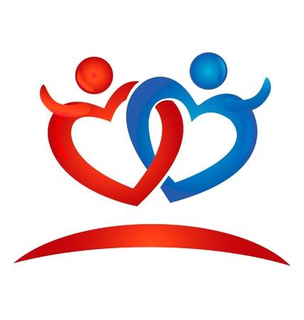 Hearts figures logo Illustration