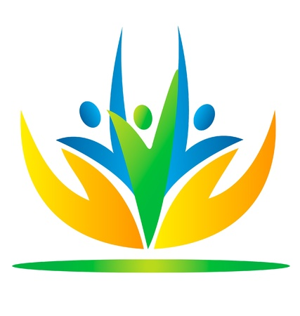 Hände kümmert Menschen Logo Standard-Bild - 13975508