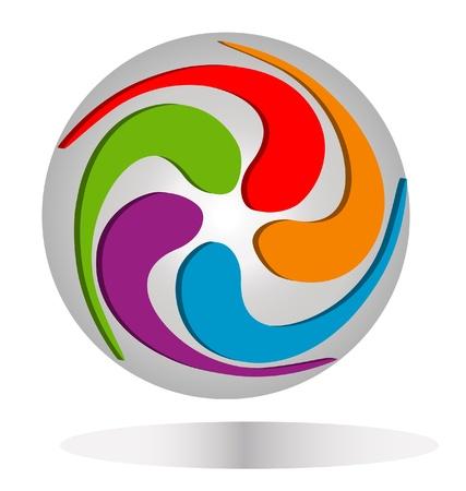 Abstract around earth logo Banco de Imagens - 13975523