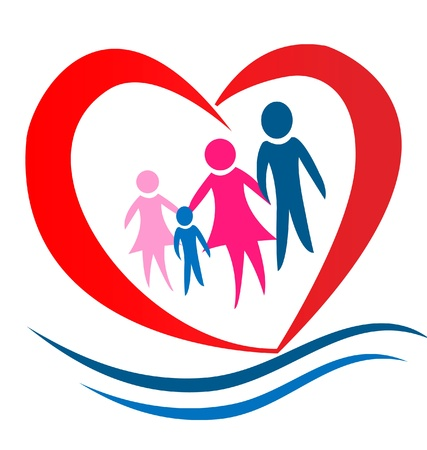nurture: Family heart logo