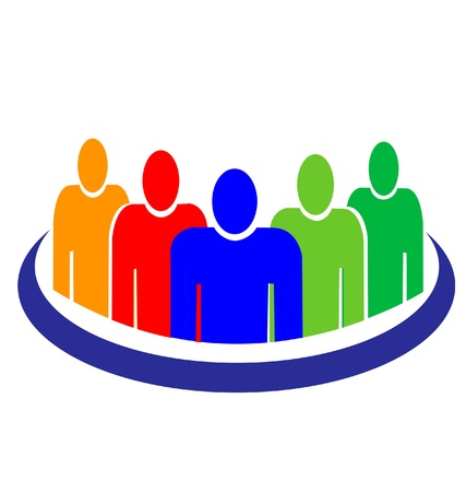 People logo Stock Vector - 14010958