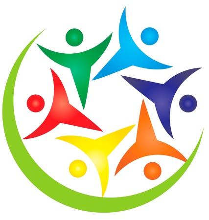 Teamwork people swoosh logo