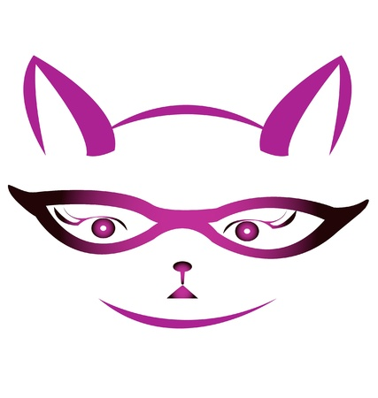 Kitty face with glasses Stock Vector - 14063164