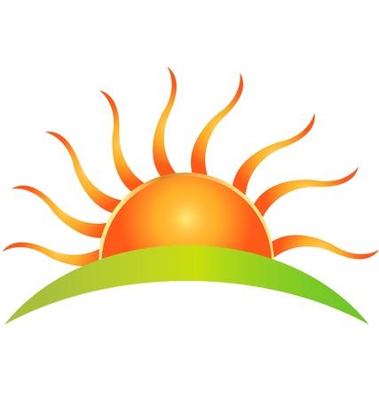 sole: Logo Sun Vettoriali