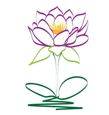 Purple lotus flower Stock Vector - 14161517