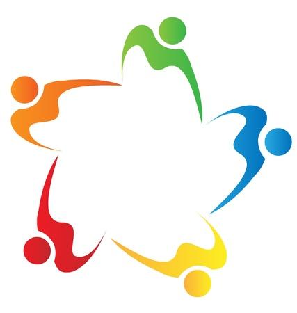 solidaridad: El trabajo en equipo logotipo de la gente la diversidad