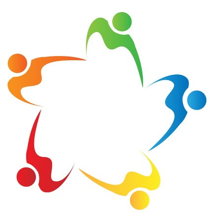 solidarity: Teamwork diversity people logo  Illustration