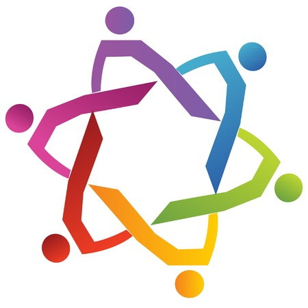 Teamwork group diversity people logo