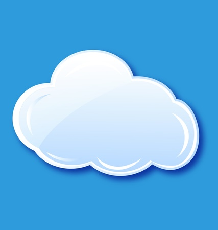 Cloud icon element vector  Stock Vector - 14238872
