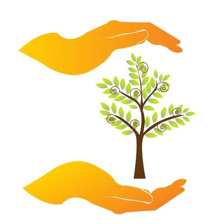 Les mains dans une entreprise pacte Vecteurs