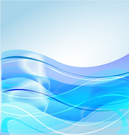 Water waves blue background design Vector