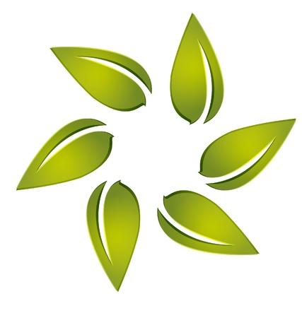 Leafs autour vecteur logo