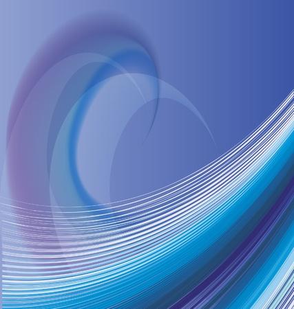 ondulation: R�sum� vecteur de fond des vagues Illustration