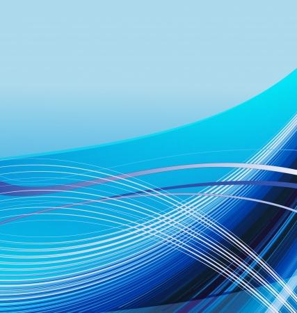 Fondo ondulado azul Ilustración de vector