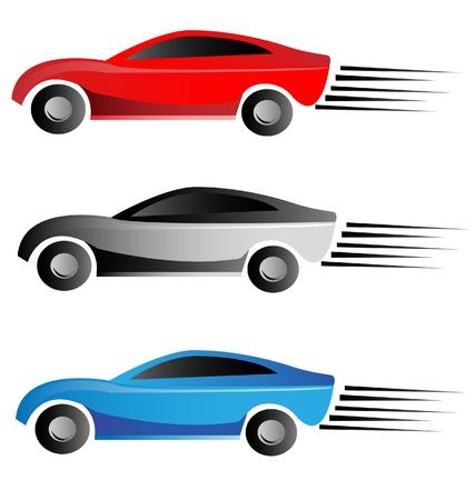 Racewagens logo Stock Illustratie