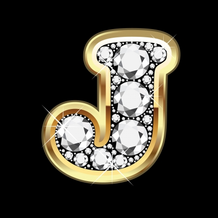 18k: J gold and diamond bling