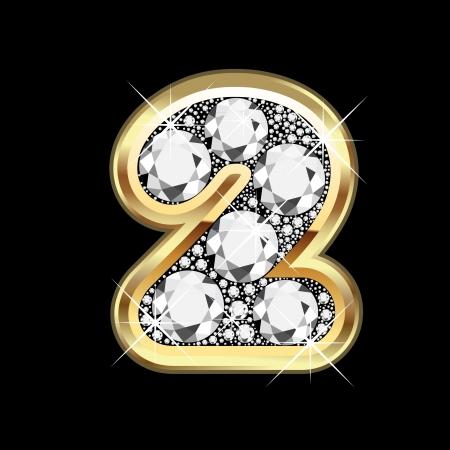 bling bling: 2 Gold-und Diamant bling