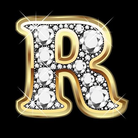 zafiro: R oro y diamante Bling n�mero